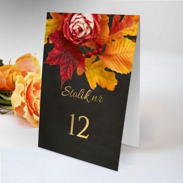 Numery stolików na wesele Floral 17