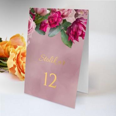 Numery stolików na wesele Floral 18