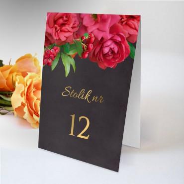 Numery stolików na wesele Floral 19