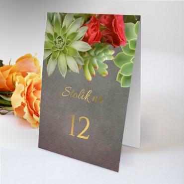 Numery stolików na wesele Floral 20