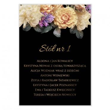 Plan stołów na wesele Floral 01