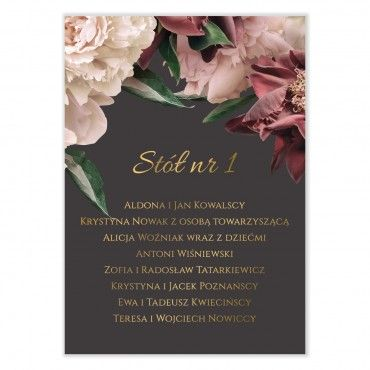 Plan stołów na wesele Floral 02