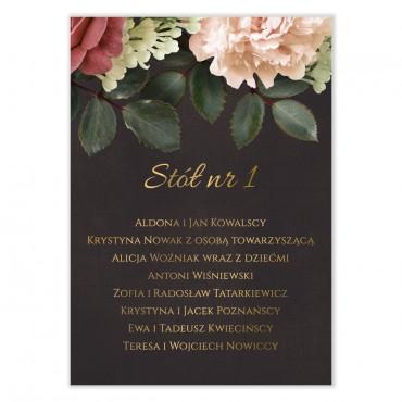 Plan stołów na wesele Floral 06