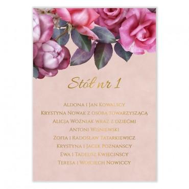 Plan stołów na wesele Floral 08