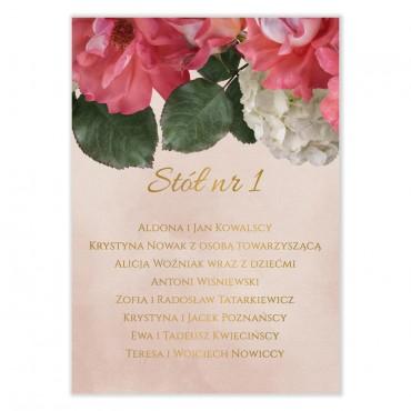 Plan stołów na wesele Floral 09