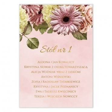 Plan stołów na wesele Floral 10