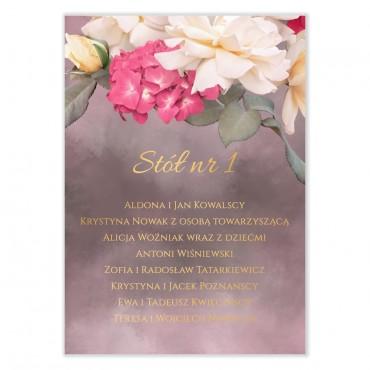 Plan stołów na wesele Floral 13