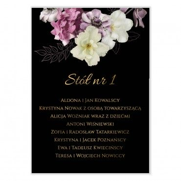 Plan stołów na wesele Floral 15