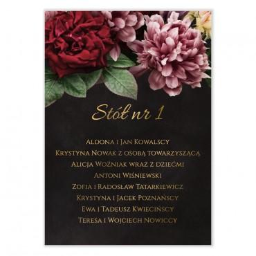 Plan stołów na wesele Floral 16