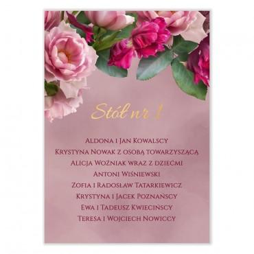 Plan stołów na wesele Floral 18