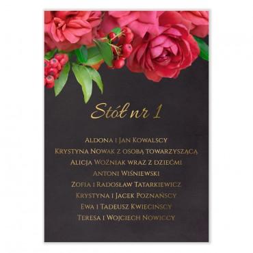Plan stołów na wesele Floral 19