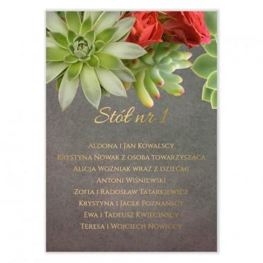 Plan stołów na wesele Floral 20
