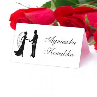 Winietki Ślubne na Stół Black&White 10