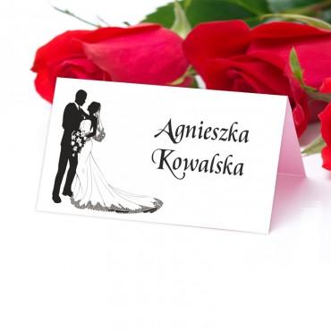 Winietki Ślubne na Stół Black&White 13