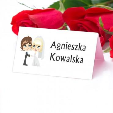 Winietki ślubne na weselne - kolekcja zabawna.