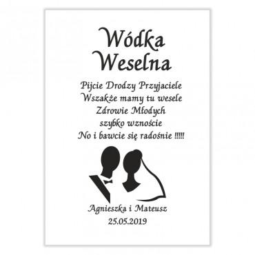 Naklejki na Wódkę Weselną Black&White...