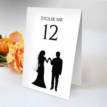 Numery stolików na wesele Black&White 01