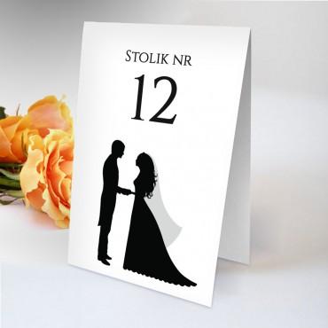 Numery stolików na wesele Black&White 02