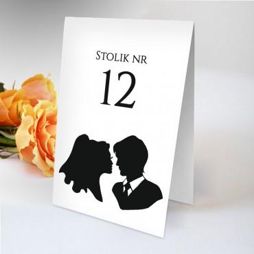 Numery stolików na wesele Black&White 03