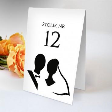 Numery stolików na wesele Black&White 04