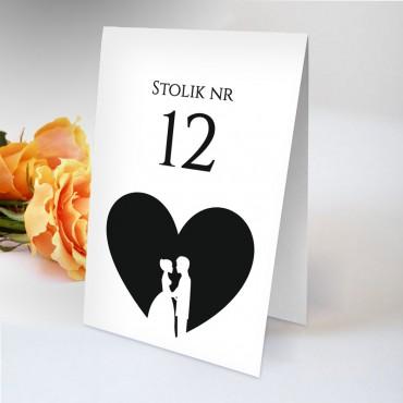 Numery stolików na wesele Black&White 05