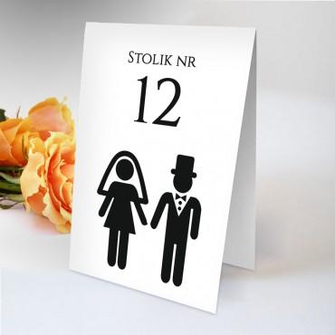 Numery stolików na wesele Black&White 06
