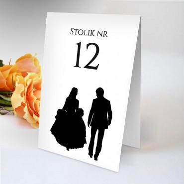 Numery stolików na wesele Black&White 07