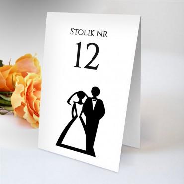 Numery stolików na wesele Black&White 08