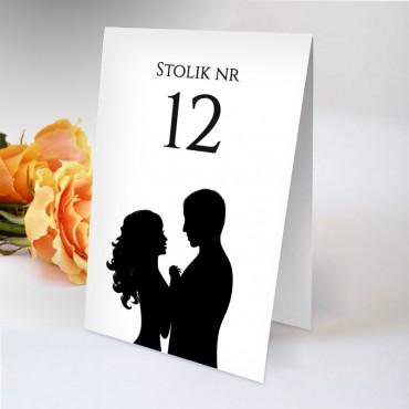 Numery stolików na wesele Black&White 09