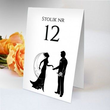 Numery stolików na wesele Black&White 10
