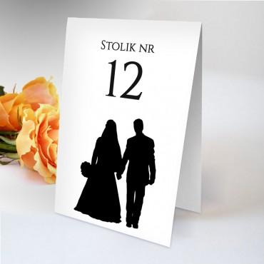 Numery stolików na wesele Black&White 11