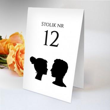 Numery stolików na wesele Black&White 12