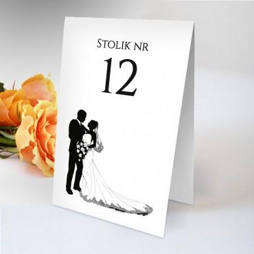 Numery stolików na wesele Black&White 13