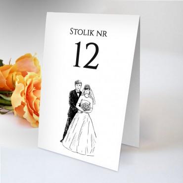 Numery stolików na wesele Black&White 14