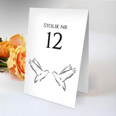 Numery stolików na wesele Black&White 15