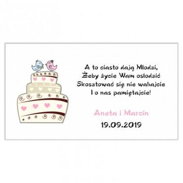 Etykiety na ciasto weselne Zabawne 48