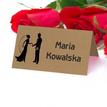 Winietki na stół weselny , na ślub - eko