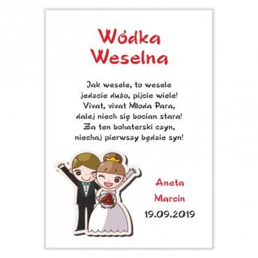 Naklejki na wódkę weselną - kolekcja zabawna.