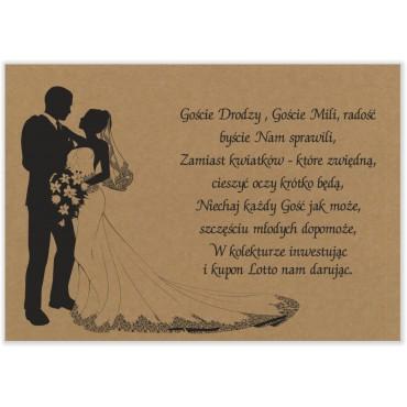 Bileciki do zaproszeń ślubnych eko