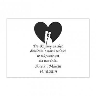 Podziękowania dla gości weselnych.