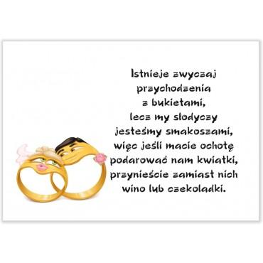 Bileciki do zaproszeń ślubnych. Kolekcja Zabawne