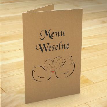 Menu weselne na stół weselny eko