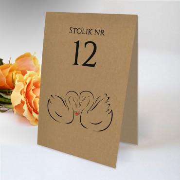 Numery stołów weselnych na stoły weselne eko.