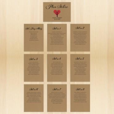 Plan stołów na wesele EKO nr 01