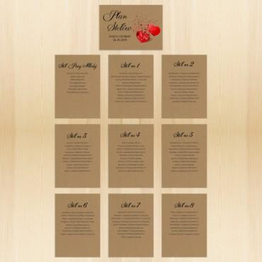 Plan stołów na wesele EKO nr 05