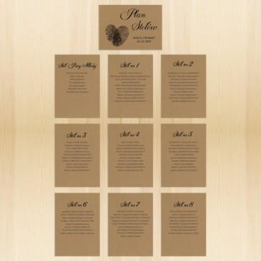 Plan stołów na wesele EKO nr 19