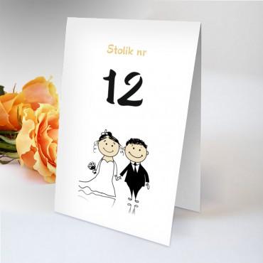Numery stolików na wesele Zabawne 02