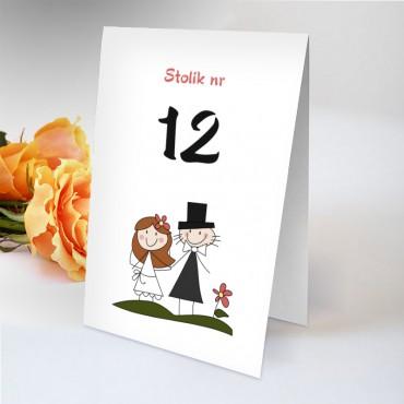 Numery stolików na wesele Zabawne 08