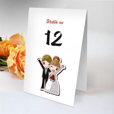 Humorystyczne numery stołów weselnych