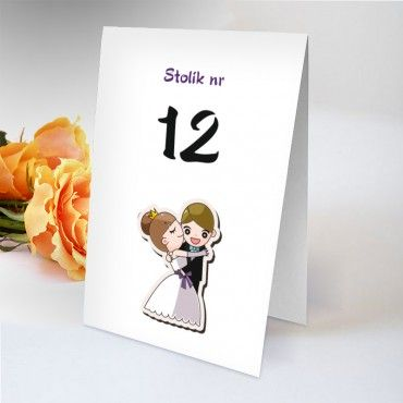 Numery stolików na wesele Zabawne 23